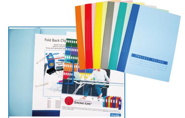 BANTEX PAPER PROJECT FOLDER F4 13441 (BLUE 藍)