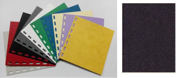 單面皮紋咭紙 A4 480G BLACK 黑 | Binding Supplies 釘裝用品