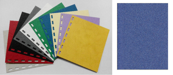 單面皮紋咭紙 A4 480G BLUE 藍 | Binding Supplies 釘裝用品