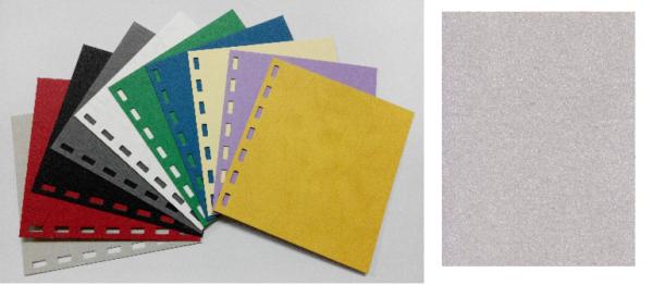 單面皮紋咭紙 A4 480G LIGHT GREY 淺灰 | Binding Supplies 釘裝用品