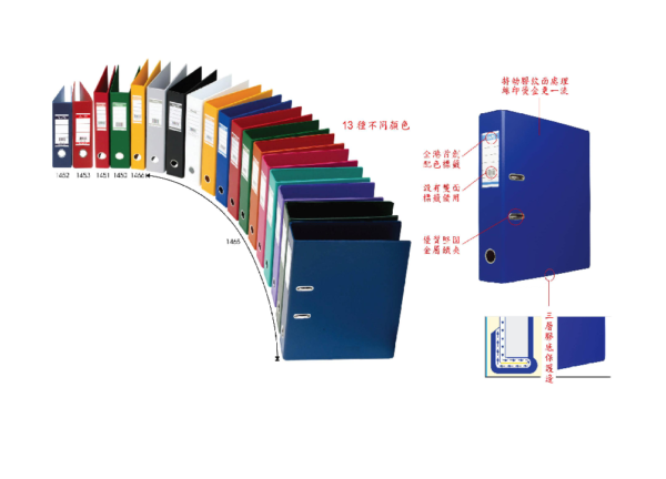 "BANTEX PVC LEVER ARCH FILE A5 (9X11"") 1453 70MM | Files 快勞類"