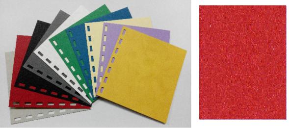單面皮紋咭紙 A4 480G RED 紅