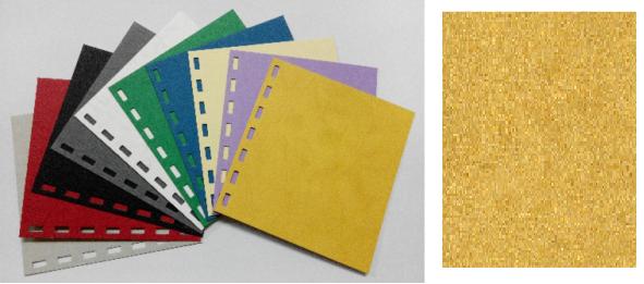 單面皮紋咭紙 A4 480G YELLOW 黃