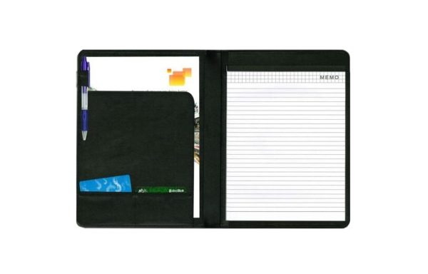 GLOBE A4 WRITING PAD FOLDER (PU) 490-1 高級仿皮會議冊