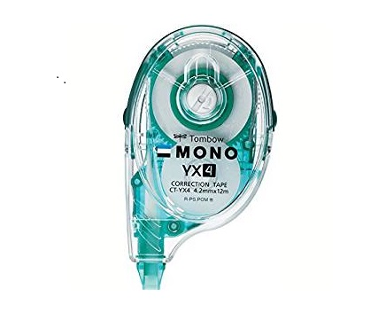 TOMBOW MONO REFILLABLE CORRECTION TAPE CT-YX4 4.2MMX12M 改錯帶