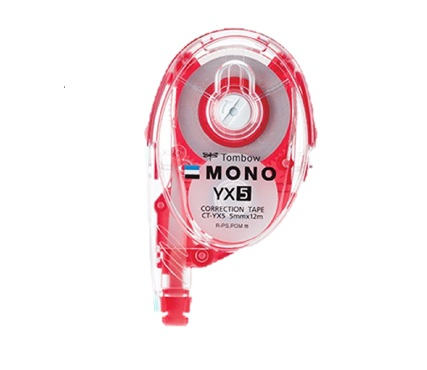 TOMBOW MONO REFILLABLE CORRECTION TAPE CT-YX5 5MMX12M 改錯帶