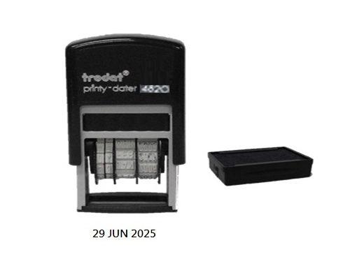 TRODAT 4820 PRINTY DATER BLUE 4MM 自動上墨日子印